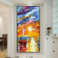 ZWPT1513 fancy 100% hand painted oil painting boat on ocean  art on Canvas
