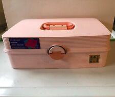 Retro 80s 90s Barbie Pink Caboodles Makeup Jewelry Organizer Case W/ Trays Nice
