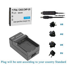Battery and Charger Kits for Casio NP-20 NP20 NP-20DBA Exilim Card Zoom camera