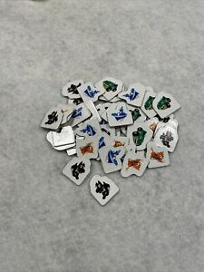 Hasbro Monopoly Jr. Replacement Parts Pieces 48 Sold Signs Complete set 12 Each