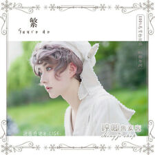 Handsome Lolita Harajuku Tender Men Curly Hair Wig Gentleman Neon Pink Mixed