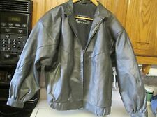 COMINT WOMEN BLACK LEATHER JACKET- Size S Small GUC Waist Length