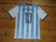 "Taglia: XL ARGENTINA FOOTBALL SHIRT ""MARADONA 10"" SOCCER JERSEY 2013 Home Camicia"
