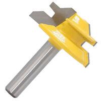 "Durable 45 Degree Lock Miter Router Bit, 8mm Shank, 1-1/2"" Cutter Diameter"