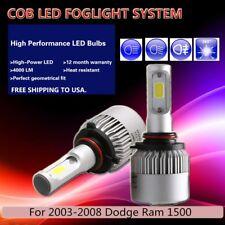 US 2Pcs White PHILIPS COB 16000LM LED Fog Light For 2003-2008 Dodge Ram 1500