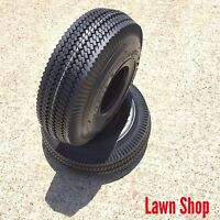 Pack of 2, Deli Tire 4.10/3.50-4, Sawtooth, 4 Ply, Tubeless, Lawn Garden Tires