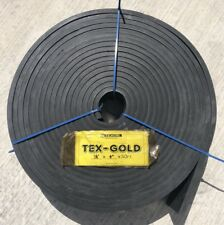 "NEW TEXCEL TEX-GOLD 1/2"" x 4"" x 50ft ROLL PREMIUM GRADE RUBBER SKIRTBOARD"