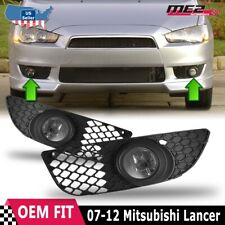 For Mitsubishi Lancer 07-12 Factory Bumper Replacement Fit Fog Light Clear Lens (Fits: Mitsubishi)
