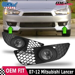 For Mitsubishi Lancer 07-12 Factory Bumper Replacement Fit Fog Light Clear Lens