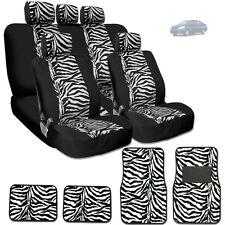 NEW PREMIUM BLACK MESH ANIMAL ZEBRA TIGER PRINT CAR SEAT COVERS MATS FOR NISSAN