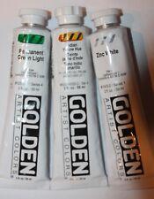 3 GLODEN ACRYLIC PAINTS- 2oz. tube-Series  1 & 4
