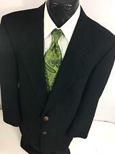 YVES SAINT LAURENT Men BLACK Sport Coat 2-BTN DINNER Jacket Wool Blazer 42 R