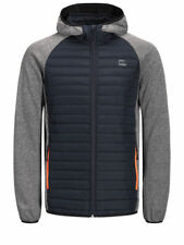 New Jack & Jones Men's Quilted Puffer Jacket Warm Hooded Outdoor Lightly Padded