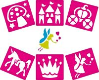 6 Fairy Themed Stencils Kit Children Arts Crafts Painting Kids Toy Craft