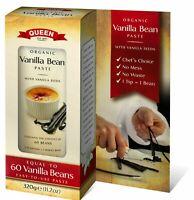 Queen Organic Vanilla Bean Paste - 320g tube (Free Fast Ship by AU POST)