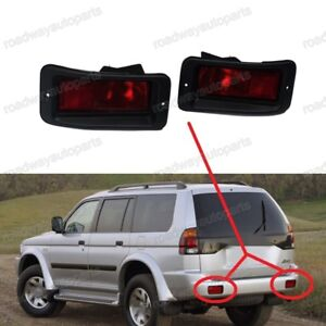 Rear Bumper Tail Fog Light Reflector For Montero K80 K90 Pajero Sport 1996-2011