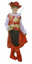 Bermoni Boy Mosqueteer Dressing Up Costume (7 to 10 y o) (MOSQ-01)