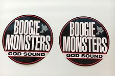 "Boogie Monsters ""God Sounds"", Rare, Large, 90'S Hip-Hop Promo Stickers !"