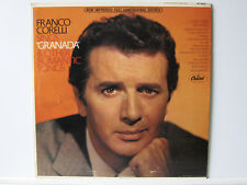 LP SIGNED BY FRANCO CORELLI ! ORIGINAL AUTOGRAPH Granada & Other Romantic Songs