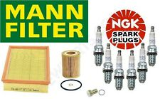 Tune Up Oil Filter Air Filter & 6-NGK Platinum Spark Plugs For: BMW E39 E46