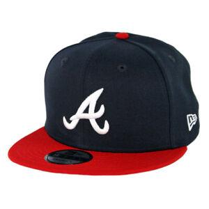 "New Era 950 Atlanta Braves ""Basic"" HOME Snapback Hat (Dark Navy/Red) Men's Cap"