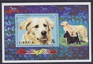 Liberia Dogs Airmail Block, Gest Dog, Used