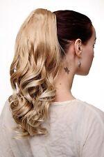 Postiche TRESSE queue de cheval épingle à cheveux-papillon Blond Mix ondulé