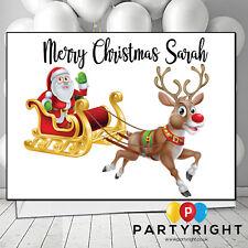 Personalised Handmade Santa Sleigh Child Adults Kids Christmas Card (L)