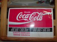 Klebstoff für Vitrine Jahre '80 Trinken Coca Cola mit Geschäftszeiten Laden Neu