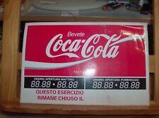 adesivo per vetrina anni '80 BEVETE COCA COLA con orari negozio nuovo mai usato