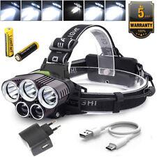 Hell 100000LM stirnlampe T6 CREE LED Kopflampe FACKEL USB Taschenlampe 2x Akku