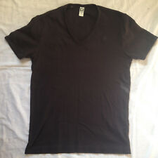 G-STAR RAW MEN'S BASE V NECK BLACK T-SHIRT LARGE SIZE