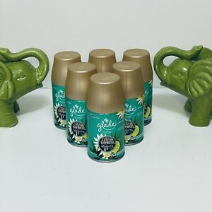 Lot of 6 Glade Automatic Spray Refills Bamboo Bliss Song Lotus Blossom 6.2 oz