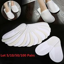 Lot 5/10/20/50/100 Pairs Unisex Hotel Slippers Spa Home Shoe Disposable Slippers