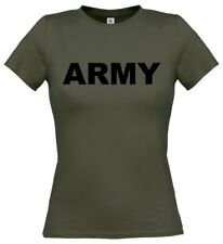 ARMY Ladies T-Shirt 8-16 Fancy Dress Costume Military Combat Cadets