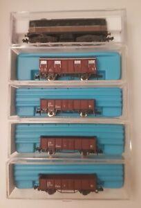 """scala N Rivarossi Atlas """"treno raccoglitore"""" D341 + 4 carri FS"""