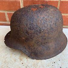 Original WW2 Normandy Relic German Army Helmet - #45