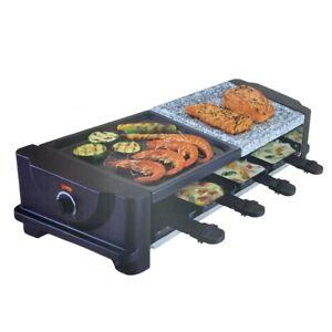 Griglia per Raclette bbq Elettrica Piastra Formaggio Fuso Grill Pietra da 1400W