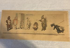 "Vintage 1930's Dog Print Boris O'Klein""Dirty Dogs of Paris""  Signed Original"
