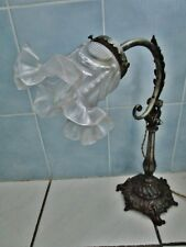 ancienne lampe de bureau art nouveau-inclinable-tulipe-fonte et métal-jugenstyl