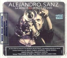CD + DVD SET ALEJANDRO SANZ LA MUSICA NO SE TOCA EN VIVO SEALED NEW 2013 LIVE