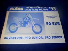 KTM Spare Parts Manual Chassis 1998 50 SXR