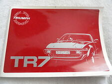 1981 1982 Triumph TR7 Owners Manual