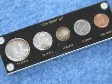 1955 United States Silver Gem Proof Set with Frosted Franklin Half E0239