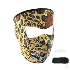 Road Rash Skin Neoprene Face Mask & Extender For Large XL Heads Biker Costume