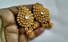 Indian Gold Oxidised Jhumka Jhumki Antique Gold Plated Bollywood Earrings