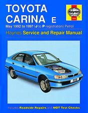 3256 Haynes Toyota Carina E Petrol (May 1992 - 1997) J to P Workshop Manual