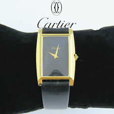 NYJEWEL CARTIER 18k Gold EP 38635 Ladies Wind Up Wristwatch not run 9""