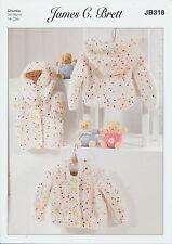 Confetti Chunky Knitting Pattern Kids Baby Cardigans Waistcoat James Brett JB318