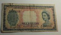 Billet  de 1 Dollar BORNEO 1953
